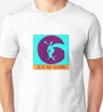 Giraffe Animal Alphabet Unisex T-Shirt