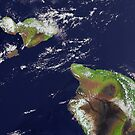 Hawaii, Maui, and Kahoolawe Islands Satellite Image  by Jim Plaxco
