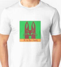 Hare Animal Alphabet Unisex T-Shirt