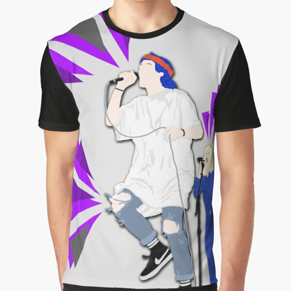 Grouplove ft. Expressive Purple Triangles Graphic T-Shirt