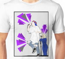 Grouplove ft. Expressive Purple Triangles Unisex T-Shirt