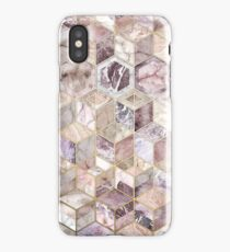 Blush Quartz Honeycomb iPhone Case/Skin