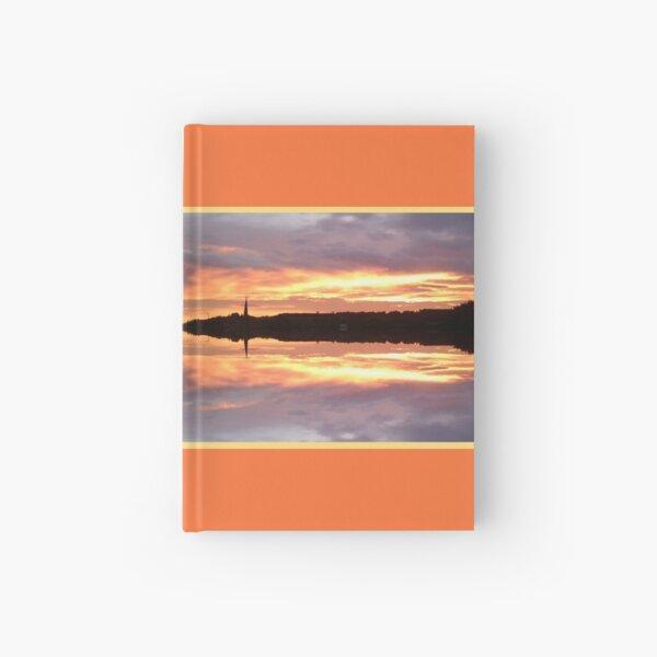 Sunset 680 Fractal Framed Hardcover Journal