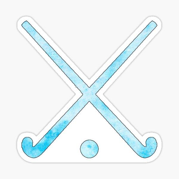 Field Hockey Light Blue Sticker