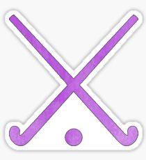 Field Hockey Purple Sticker