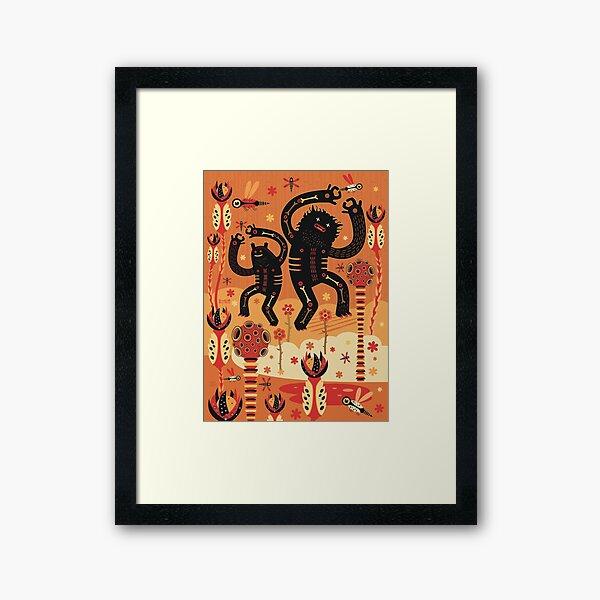 Les danses de Mars Framed Art Print