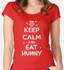KEEP CALM - Keep Calm and Eat Hunny Women's Fitted Scoop T-Shirt