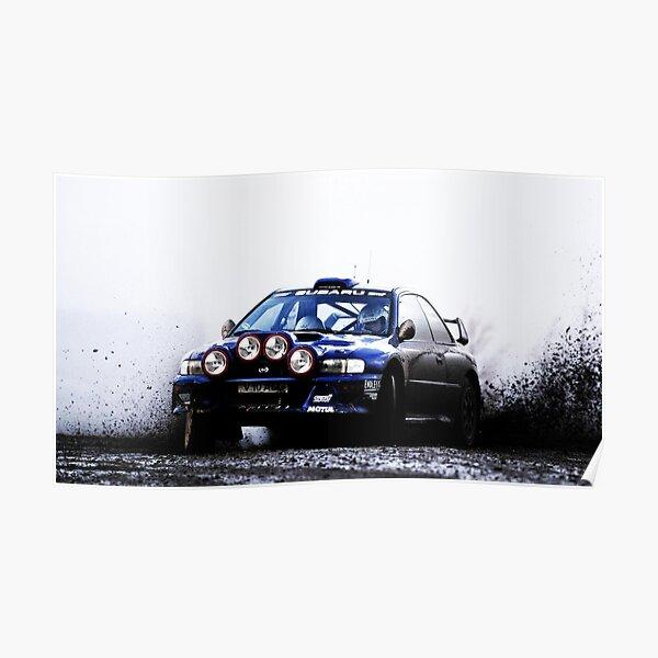 Subaru Rally Car Póster