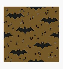 The pattern with bats. Children's ornament with superheroes   Photographic Print