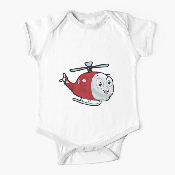 Helicopter Love Short Sleeve T Shirt Baby Boy