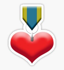 Red Heart Medal Sticker