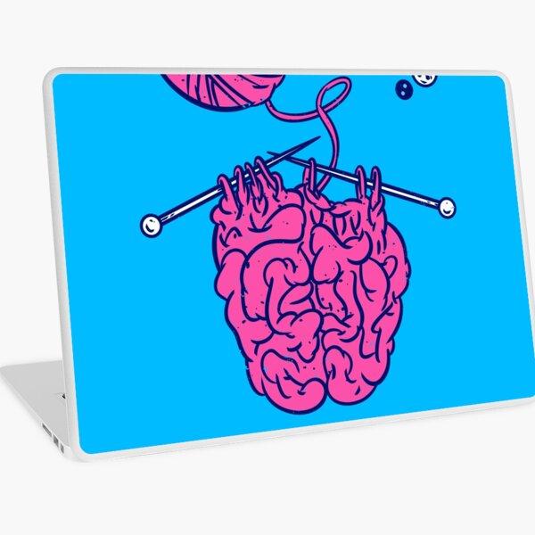 Knitting a brain Laptop Skin