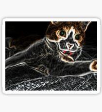 Holloween Scaredy Cat Sticker