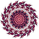 Pink and Purple Leafy Mandala by WelshPixie