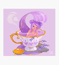 Lavender Tea Mermaid Photographic Print