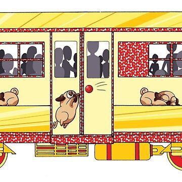 Pug Express by GraySea