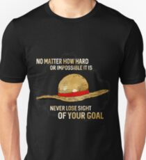 One Piece quote - straw hat T-Shirt