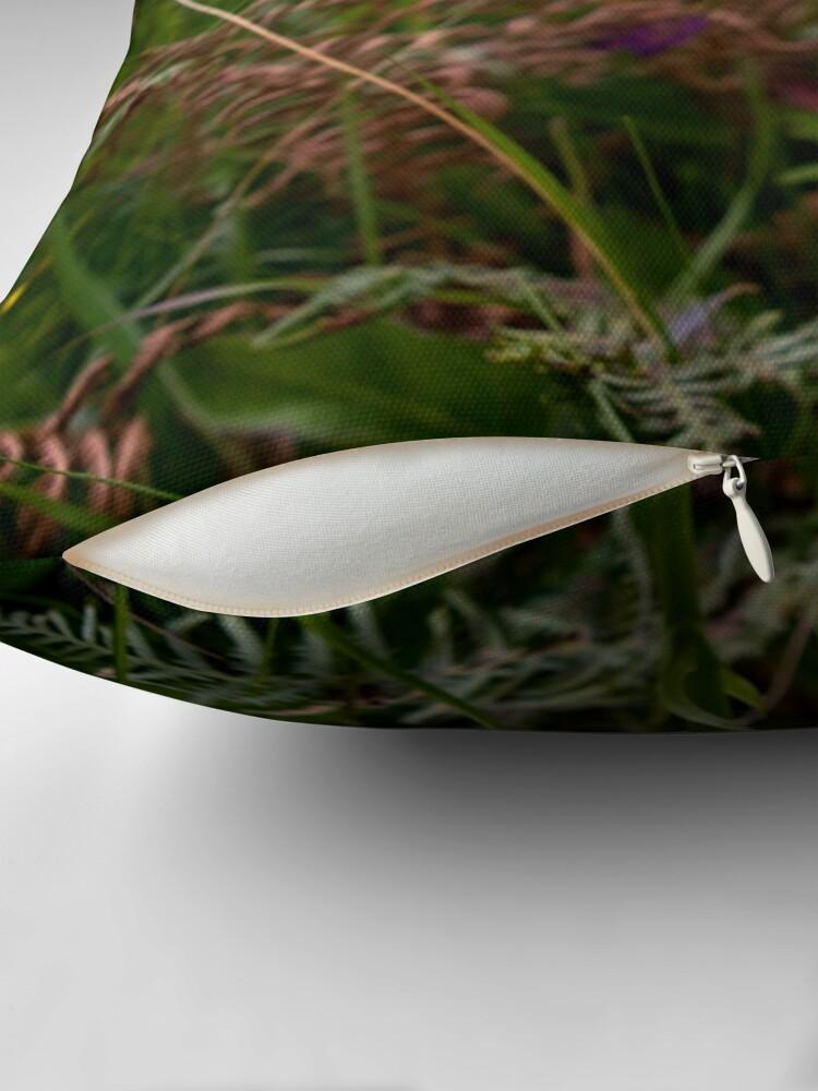 Alternate view of Irish White Orchid, Inishmore Throw Pillow