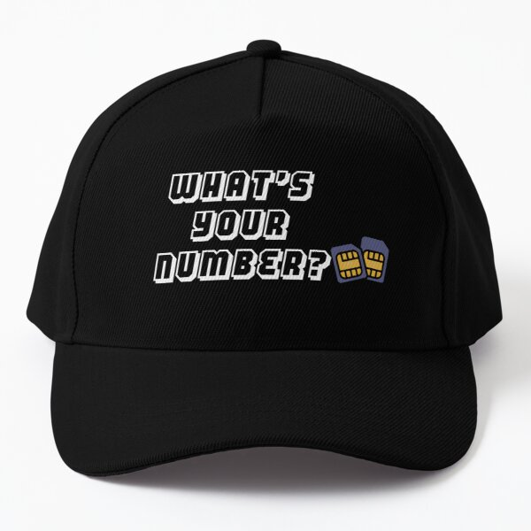 whats your number  Baseball Cap