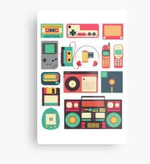 RETRO TECHNOLOGY 1.0 Metal Print