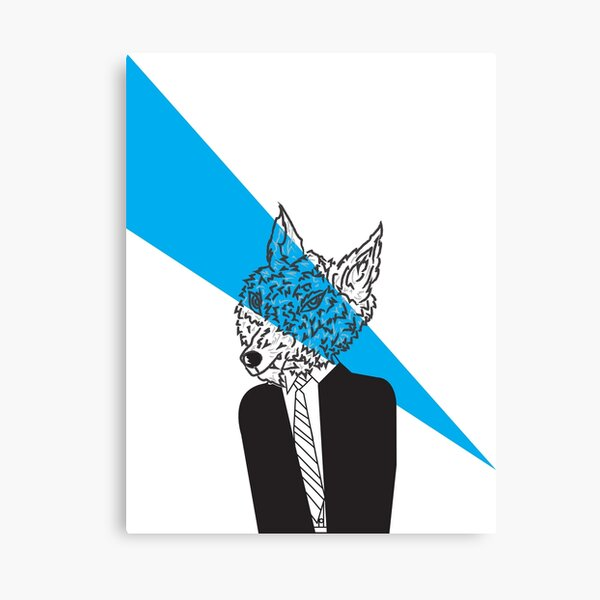 Wolf in Men's Clothing Canvas Print