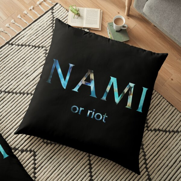 Nami or riot - League of Legends Floor Pillow