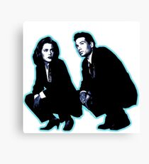 Awesome Dana Scully Fox Mulder - Stencil - THE X FILES - Street art Graffiti Popart Andy warhol Canvas Print
