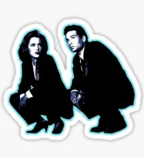 Awesome Dana Scully Fox Mulder - Stencil - THE X FILES - Street art Graffiti Popart Andy warhol Sticker