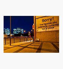 Attribution - London Lights Photographic Print