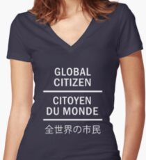 Global Citizen Fitted V-Neck T-Shirt