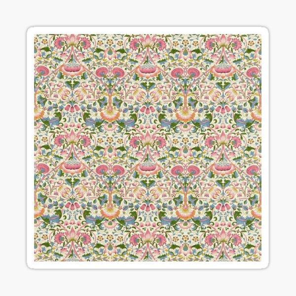 William Morris Pink Blush Blue Woad Vintage Lodden Floral Botanical Pattern Sticker