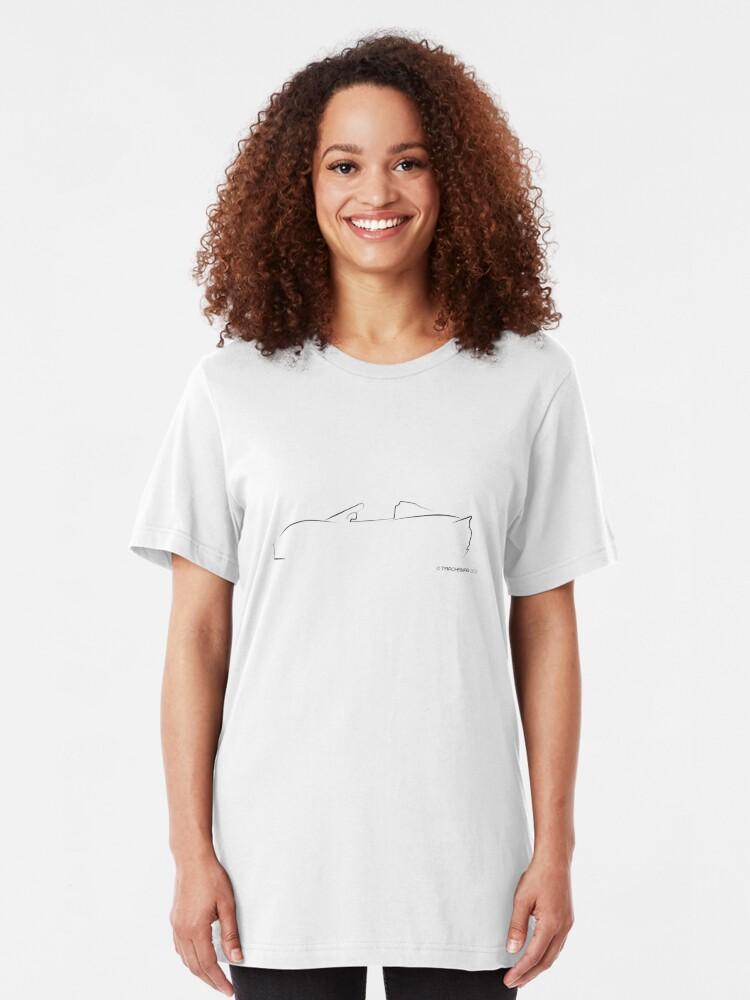 Alternate view of Profile Silhouette Lotus Elise - black Slim Fit T-Shirt