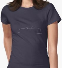 Profile Silhouette Lotus Elise - white Women's Fitted T-Shirt