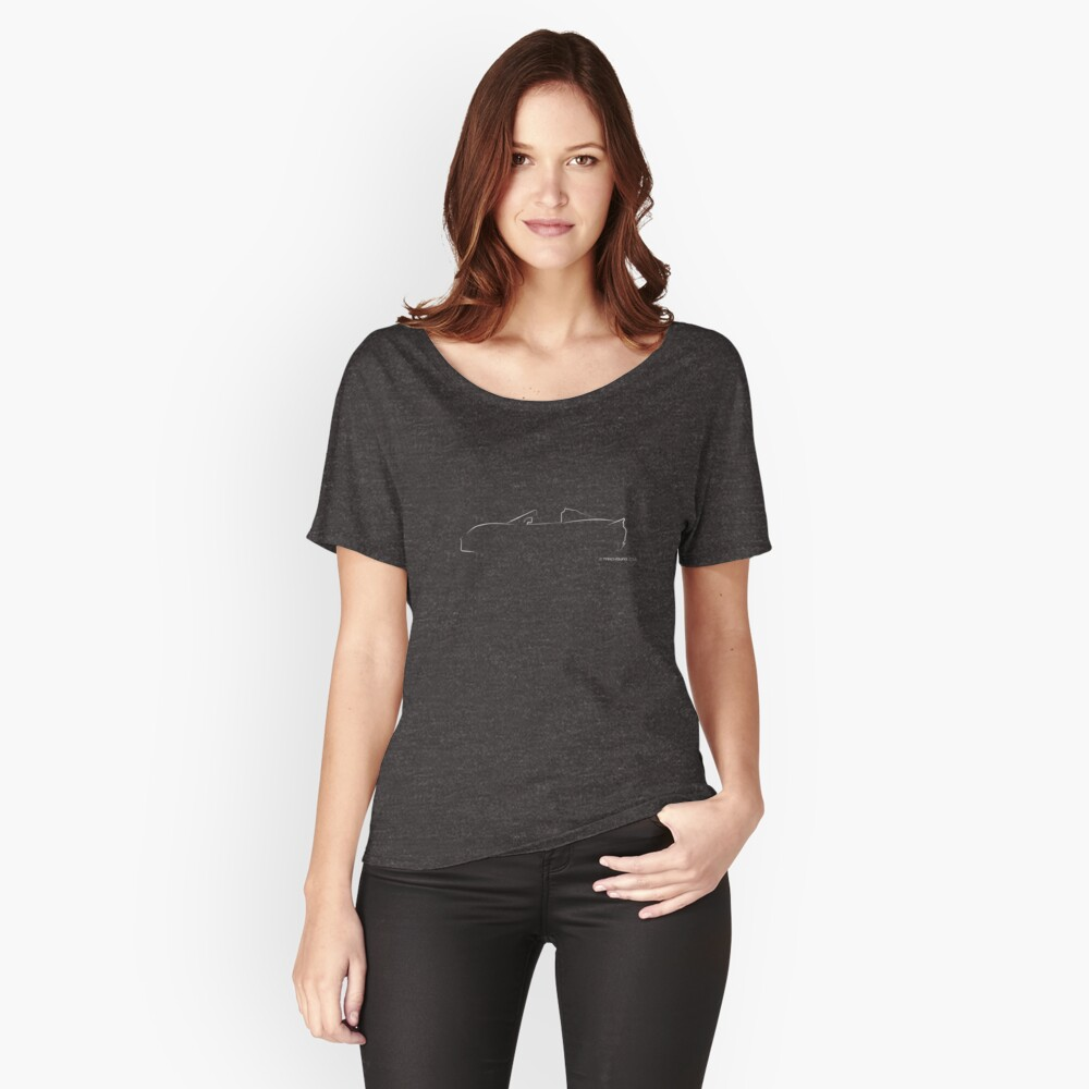 Profile Silhouette Lotus Elise - white Relaxed Fit T-Shirt