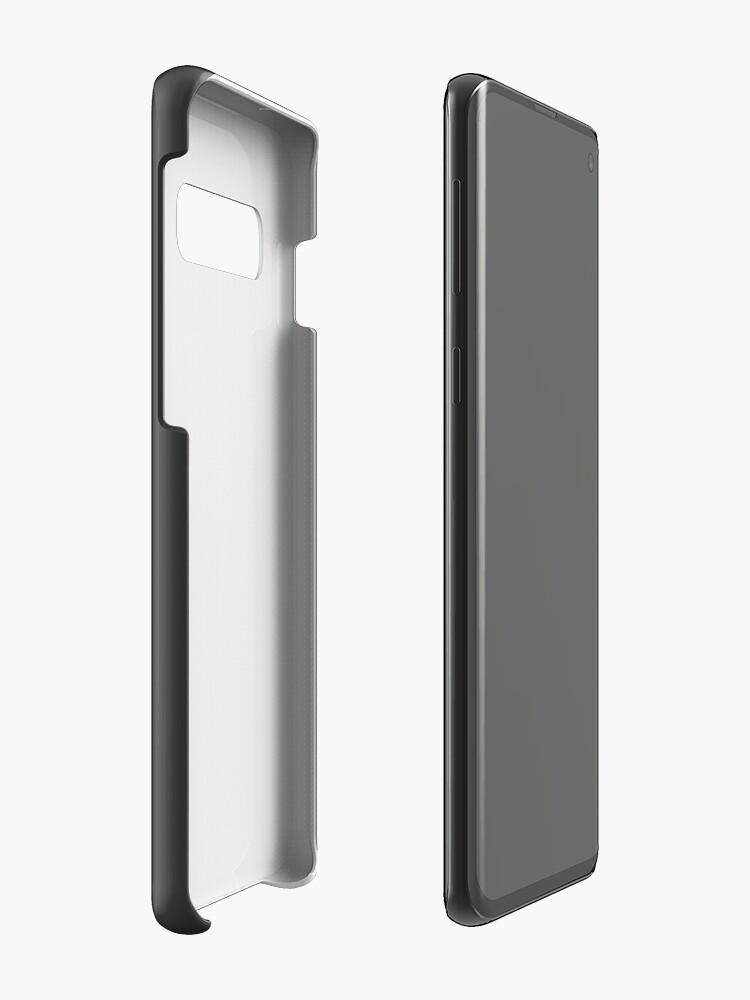 Alternate view of Profile Silhouette Lotus Elise - white Case & Skin for Samsung Galaxy