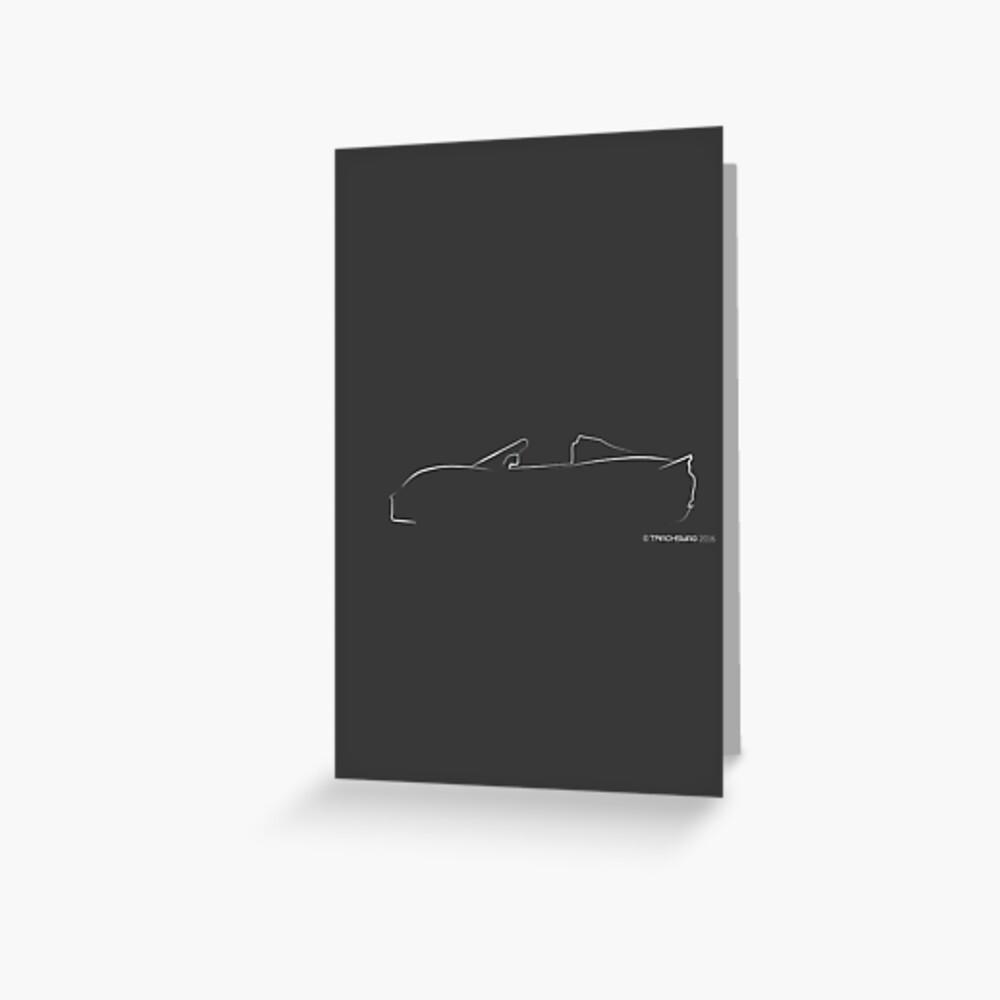 Profile Silhouette Lotus Elise - white Greeting Card