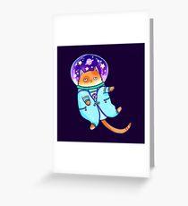 Kosmokat Grußkarte