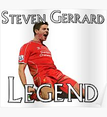 Steven Gerrard Legendary Series - Celebration Poster