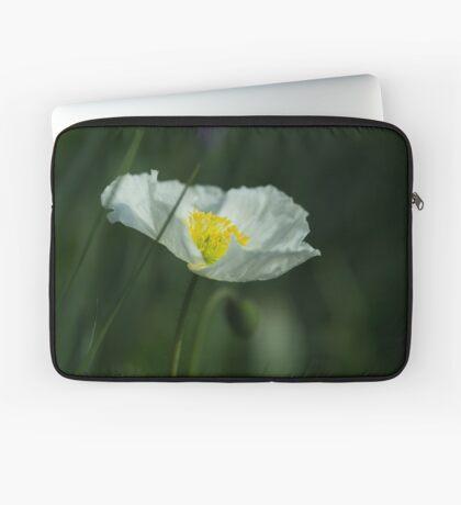 Good Morning White Poppy Laptop Sleeve