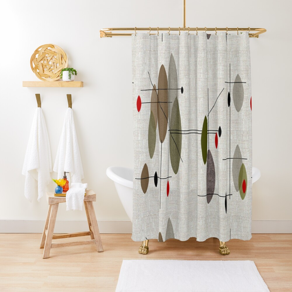 Hanging Orbs Shower Curtain