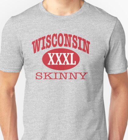Wisconsin Skinny XXL Athletic RED T-Shirt