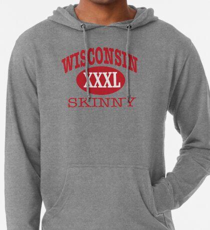 Wisconsin Skinny XXL Athletic RED Lightweight Hoodie
