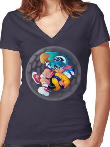 Inkbrush Nouveau (Bubbler) Women's Fitted V-Neck T-Shirt