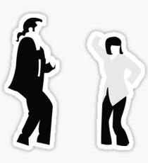 Pulp Fiction minimalism movie poster art Sticker