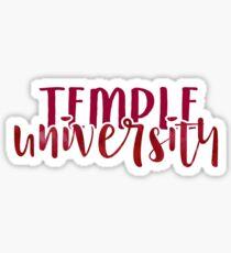 Temple University - Style 1 Sticker
