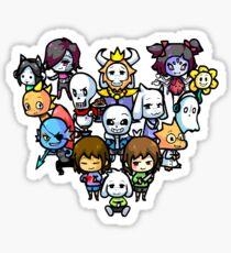 Chibi Undertale Characters Sticker