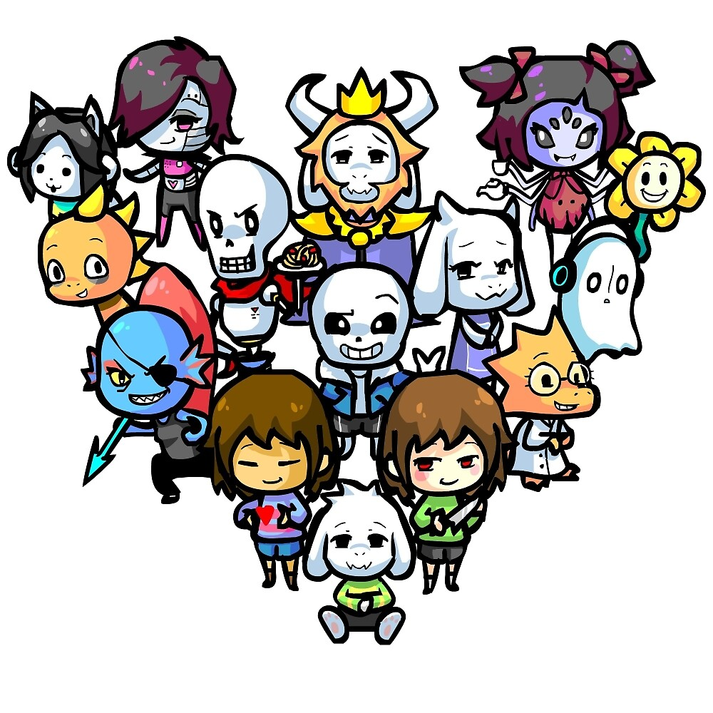 Quot Chibi Undertale Characters Quot By Timtam13 Redbubble