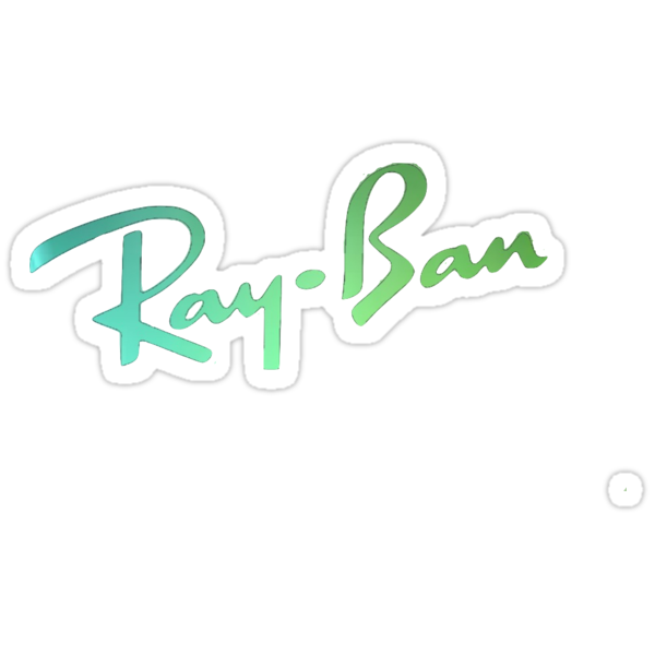 Small Ray Ban Logo Sticker