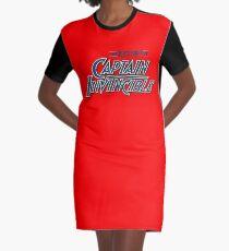 Captain Invincible (Blue) Graphic T-Shirt Dress
