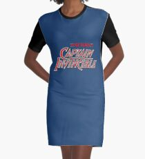 Captain Invincible (Red) Graphic T-Shirt Dress